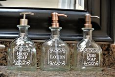 BULK Patron Pump Glass Soap Dispensers / Patron Bottle /Tequila Bottle Gifts / Recycled Patron / Hand Soap or Dish Soap Dispenser / Bathroom Liquor Bottle Crafts, Alcohol Bottles, Glass Bottles, Patron Bottle Crafts, Empty Liquor Bottles, Bathroom Soap Dispenser, Soap Dispensers, Soap Dispenser Ideas, Adult Scavenger Hunt