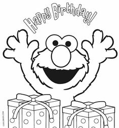 elmo birthday coloring pages elmo birthdaysesame street - Sesame Street Coloring Pages Elmo