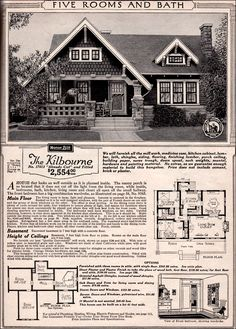 I love the style of old craftsman houses. Could possibly use a floor plan from an old house and build a new one that is more efficient!