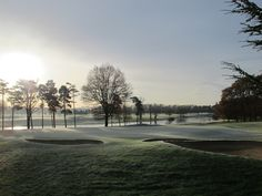 Cold, frosty mornings are winter delights! #golf #course