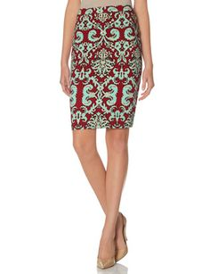 Printed Pencil Skirt from THELIMITED.com