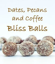 These sugar free Dates, Pecans and Coffee Bliss Balls are smooth in texture and offer a much more defined flavour…an ideal chocolate replacement but much healthier and not as sweet. The coffee flavour really comes through so if you are a coffee lover they might be perfect for you.