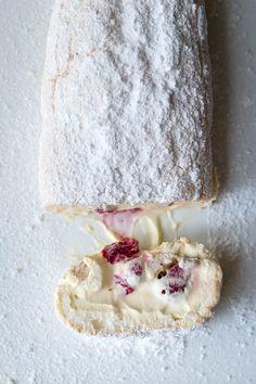 Milk and Honey: Marshmallow Pavlova Roulade with Lemon Curd Mascarpone and Raspberries