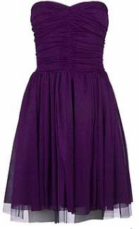 short purple bridesmaid dress - might look good with lt brown cowboy boots.