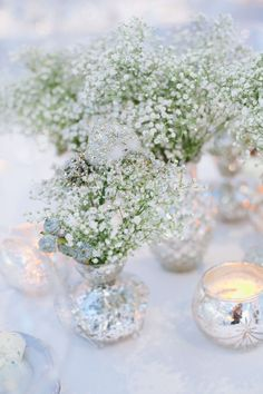 Babys breath  sparkle - replace silver with gold,