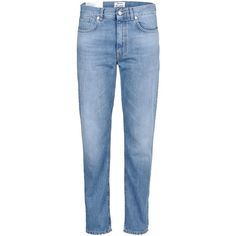 Acne Studios Pop Boyfriend Jeans ($133) ❤ liked on Polyvore featuring jeans, pants, bottoms, blue, faded blue jeans, acne studios, faded jeans, light wash jeans and relaxed jeans