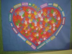 Peace Crafts, Primary Activities, Classroom Posters, Beach Mat, Kindergarten, Religion, Outdoor Blanket, Arts And Crafts, Teacher