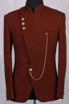 d538f37137 Rustic Red Jute Jodhpuri Suit-ST707 Roupas Africanas Masculinas