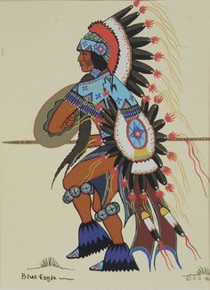 Acee Blue Eagle, Shield Dancer Native American Makeup, Native American Paintings, Native American Photos, Native American Artists, American Indian Art, Indian Paintings, American Indians, Five Civilized Tribes, Choctaw Nation