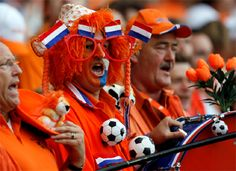The Dutch fans are ready for the European football Cup 2012