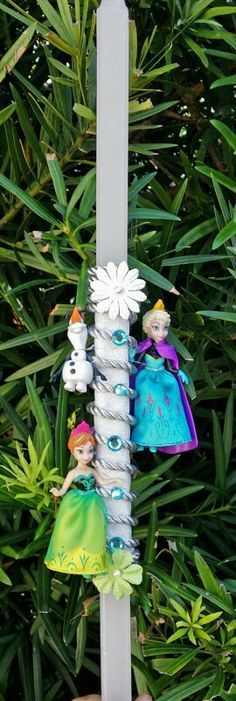Frozen easter candle lambada $ 35 Decorated Candles, Easter Candle, Greek Easter, Palm Sunday, Easter Treats, Lent, Spring Time, Christening, Princesses