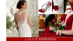 Valentine Weddings can be filled with heart decor and red/white colors. Find inspiration for a Red & White MA Wedding. Red Wedding, Wedding Day, Valentines Day Weddings, Heart Decorations, Wedding Trends, Red And White, Wedding Inspiration, Wedding Dresses, Lace