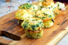 Tasty food for busy mums: Breakfast Cups with Scrambled Eggs, Spinach, Ham & Cheese