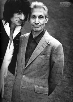 Ronnie Woods and Charlie Watts (The Rolling Stones)