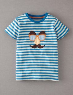 I've spotted this @BodenClothing Joke T-shirt Pacific/Ecru Face