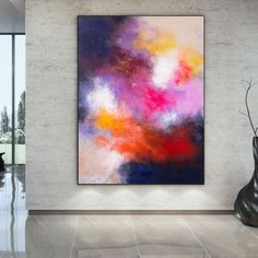 Oversized Wall Art Modern Abstract Painting Farmhouse image 5 Colorful Artwork, Colorful Paintings, Abstract Canvas Art, Acrylic Painting Canvas, Original Art, Original Paintings, Oversized Wall Art, Extra Large Wall Art, Office Wall Art