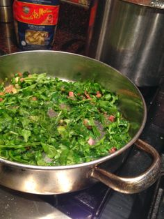Sunday At the Giacometti's Pasta with Arugula and Pancetta, ready in minutes
