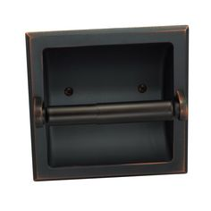 Designers Impressions Oil Rubbed Bronze Recessed Toilet / Tissue Paper Holder All Metal Contruction - Mounting Bracket Included Finish: Oil Rubbed Bronze Width: --- Height: Requires a by hole in the wall Aluminum insert Warranty: 15 Years on Finish Recessed Toilet Paper Holder, Bathroom Toilet Paper Holders, Wall Mount Bracket, Mounting Brackets, Bathroom Hardware, Bathroom Fixtures, Bronze Bathroom Accessories, Tissue Paper Holder, Bathroom Toilets