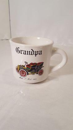 "Papel 1909 Model T Ford ""Grandpa"" Ceramic England Coffee Mug Gift  #Papel"
