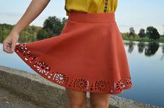 Rust Eyelet Skirt   Free Shipping