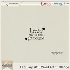 February 2018 Word Art Challenge with JoCee Designs
