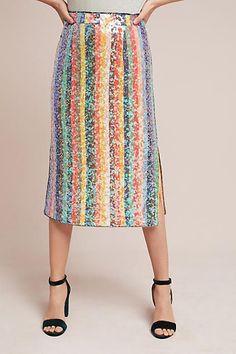 Maeve Sequined Palette Midi Skirt - Anthropologie