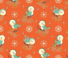 Vintage Christmas // by petite_circus fabric by petite_circus on Spoonflower - custom fabric