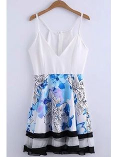 Deep V Neck Fit and Flare Cami Dress #womensfashion #pinterestfashion #buy #fun#fashion