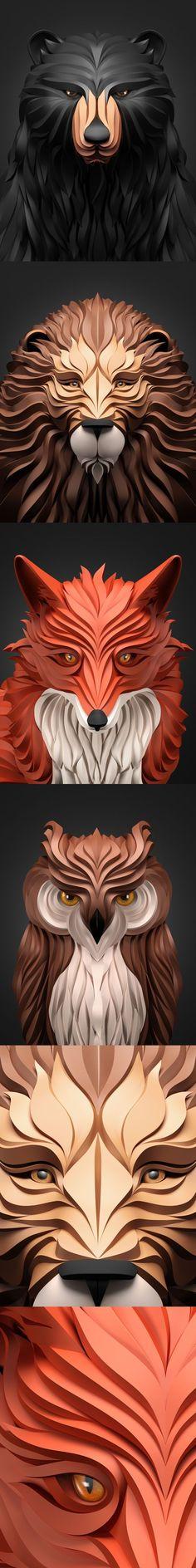 Mask Rider Predator Sculpt D Digital Art Pinterest Predator - Fascinating 3d renderings of people and animals by maxim shkret
