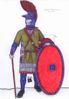 Roman officer 3rd century.   Beautiful drawing