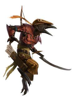 Jeu Pathfinder : The rebel Ilse / Tengu / http://the-rebel-isle.wikia.com/wiki/File:Tengu_Acher.jpg