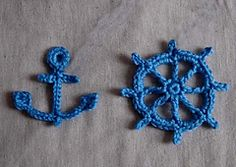 Crochet anchor and wheel