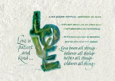 Love is ... ~::~ Judy Dodds, Penscriptions Calligraphy