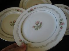 Mikasa First Love Bread plates Platinum Trim Very by ChinaGalore