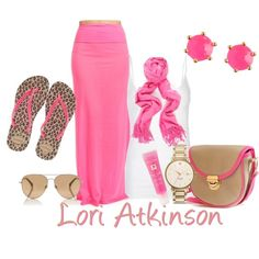 """""""Pink With A Pop Of Leopard"""" by lori-atkinson on Polyvore"""
