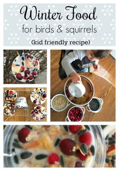 Make this kid-friendly diy. A Winter feathery & furry food craft. Mommy and me project. Squirrel and bird food.