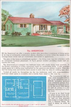 Mid Century Modern House Plans | 1952 National Plan Service Houses ...