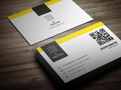 Creative Yellow Business Card by bouncy on Creative Market