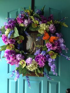 My summertime wreath. Love the colors!