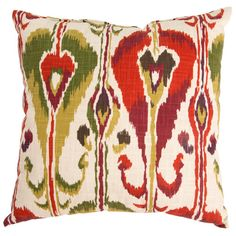 Found it at AllModern - Ikat Bands Cotton Throw Pillow