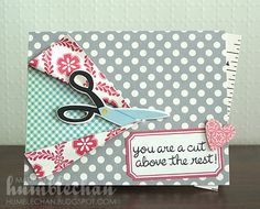 Scissor card - I know some seamstresses who this would be perfect for!  (sorry, TF, for the sentence structure!)