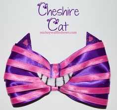 Cheshire+Cat+Hair+Bow+by+MickeyWaffles+on+Etsy