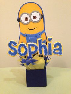 Centerpieces Minions Party Decorations by anyelap on Etsy, $15.00