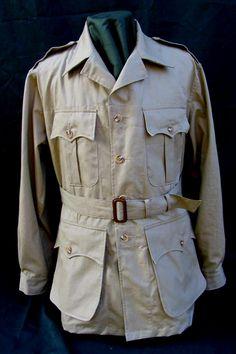 Australian Bush Poplin Safari Jacket -a must for the Urban Jungle Hunting Jackets, Hunting Clothes, Safari Jacket, Safari Shirt, Cowboys Shirt, 20th Century Fashion, Field Jacket, Mode Style, Wedding Suits