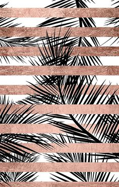 rose gold wallpaper backgrounds - Trendy tropical palm trees chic rose gold stripes' iPhone Case by GirlyTrend Palm Tree Iphone Wallpaper, Rose Gold Wallpaper, Free Iphone Wallpaper, Tumblr Wallpaper, Cool Wallpaper, Wallpaper Backgrounds, Iphone Wallpapers, Rose Gold Backgrounds, Tropical Wallpaper