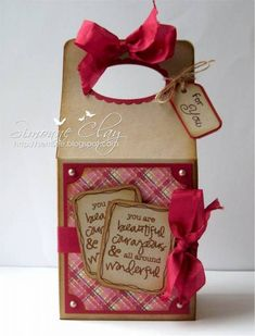 Lucky Gable Box by semsee - Cards and Paper Crafts at Splitcoaststampers Craft Packaging, Packaging Ideas, Diy Gift Box, Gift Tags, Treat Holder, Card Holder, Gable Boxes, Paper Gift Bags, Diy Valentine