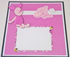 12x12 Premade Disney Scrapbook Pages  Piglet by StrictlyCute, $28.00