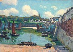 """Lucien Seevagen 1887-1959 """" Le port de Douarnenez """""""