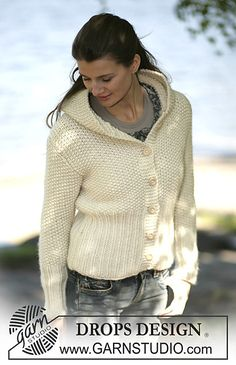 Ravelry: 97-4 Cardigan with hood knitted in Eskimo pattern by DROPS design