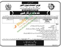 Jobs Opportunities in National Accountability Bureau Lahore 2nd January 2017